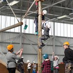 Peg Pole is another of our high ropes, based inside one of our hangers.