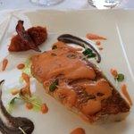 Filet de rouget, compotée de tomate au chorizo