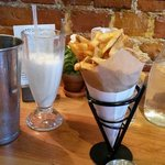 Belgian-style duck fat fries and Maine honey milkshake