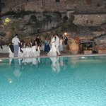 matrimonio in piscina, wedding on swimming pool