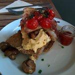 """Este es el """"Mini"""" desayuno inglés, delicioso."""