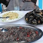 Risotto, Linguine and Mussels