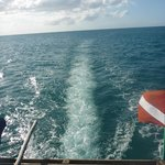 View from the top deck of the dhow