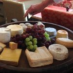 Cheeseboard to choose from--all French--at La Veranda.