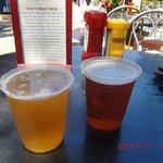 最初のビールとクラフトビールのメニュー