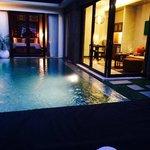Villa 1 in the evening