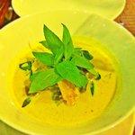 The no potato, no sweet potato green curry specially made for my mom