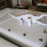 sculture con asciugamani