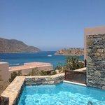 View of Spinalonga from our private pool!