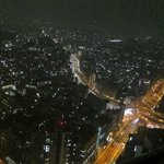 Great night view over the Shinjuku area (from our corner room on the 50th floor)