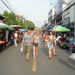 début du marché du sunday market