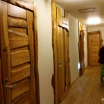 Doors to the room are all hand made.
