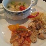 Congee, mushrooms & ginger fish