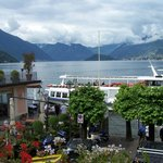 Lake Como from the hotel balcony