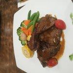 Lamb Chops with more veggies instead of mash potatoes