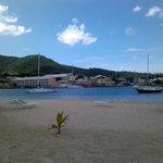 Beach and harbor area