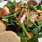 Tasty salmon salad