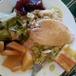 Turkey/Dressing, Limas, Rutabagas and Cabbage!