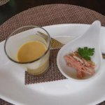 A sample of the delicious mustard soup
