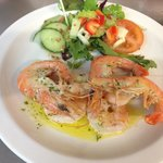 King Prawn and Crevettes in Garlic Butter - Starter