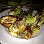 Lobster that the waiter went next door to get for me to enjoy with my steak at The Grill.
