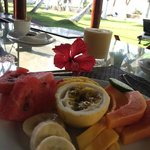 Fresh fruit everyday during breakfast.