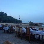Saturday evening beach dinner