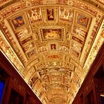 One of the vatican's many gorgeous ceilings
