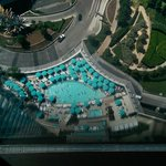 View of pool from our room 40th floor
