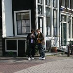 Tourists on a corner in De Jordaan