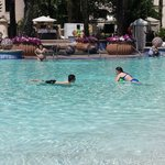 Playing in the pool at the Hard Rock Hotel in Orlando