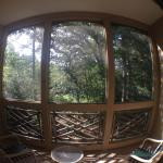 A fish eye photo of the big porches