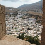 Lindos city, view from Acropolis
