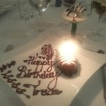 Birthday surprise at the Italina restaurant