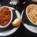 Rosemary Sweet Potatos and Macaroni & Cheese