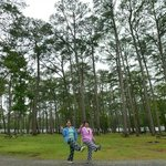 strolling at the campground
