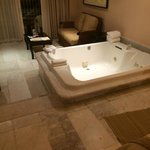 Big jacuzzi came with wine and bath oils