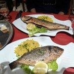 15ユーロのセットのメインの魚、大きいです、単純に塩焼き