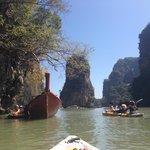 canoeing around the islands