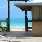 Beach entrance from villa