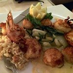 Shrimps and scallops - perfect