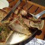 Roasted bone marrow with horseradish and garlic