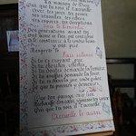 Manifesto all'interno della Chiesa di Giverny