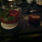 Rhubarb vanilla pudding