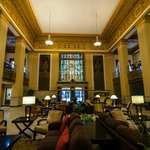 The main lobby of the hotel.