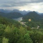 Blick auf Hohenschwangau von Neuschwanstein