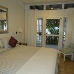 A front bedroom of 3-bedroom ocean front unit