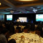 Plenary ballroom set in rounds for luncheon