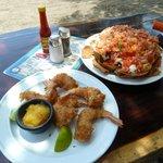 Coconut Shrimp and Nachos