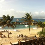 Pink Gin Village beach front room view.  St. George's, Grenada in distance.